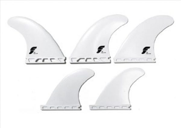 Future Fin F6 5 Fin, quad + thruster ( white )-252