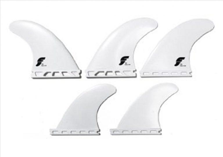 Future Fin F6 5 Fin, quad + thruster ( white )-0