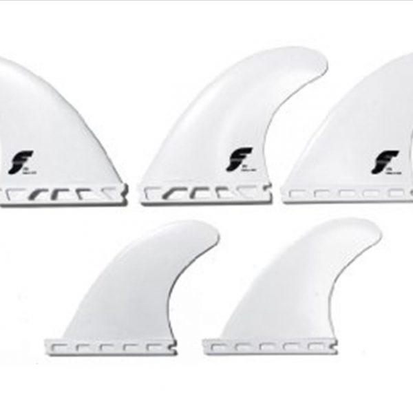 Future fins F4 quadtri 5 fin set ( white )-0